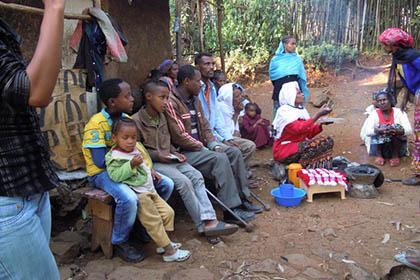 dorp in Afrika